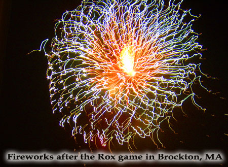 Fireworks in Brockton, MA - Photo by Kathylee