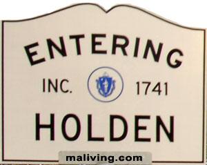 Entering Holden, Massachusetts