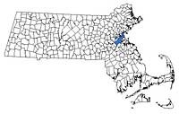 Massachusetts Region Map -Suffolk County