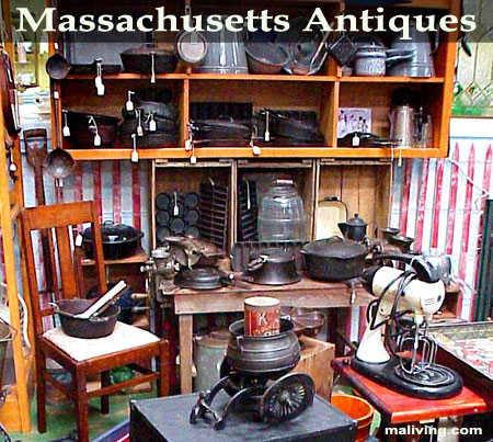 Massachusetts Antique Dealers, Antuque Stores and Antique Malls