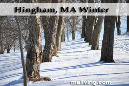 Winter in Hingham, MA - Photo by Sunny