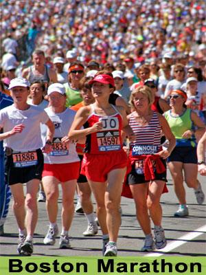 Boston Marathon - Photo credit: Sarah Musumeci. Available 2009-2011. Contact MOTT