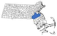 Massachusetts Region Map - Norfolk County