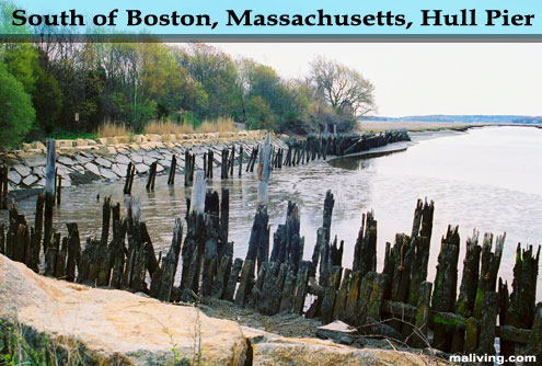 Hull Pier in South of Boston, Massachusetts