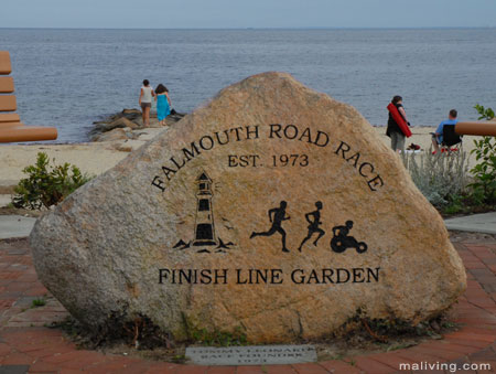Falmouth, MA Road Race Finish Line Garden