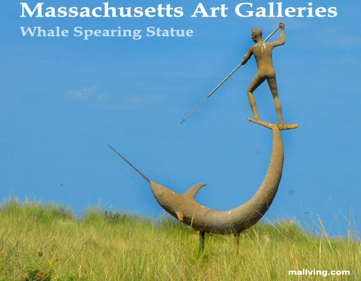 Massachusetts Cape Cod Art Galleries - Whale Spearing Statue