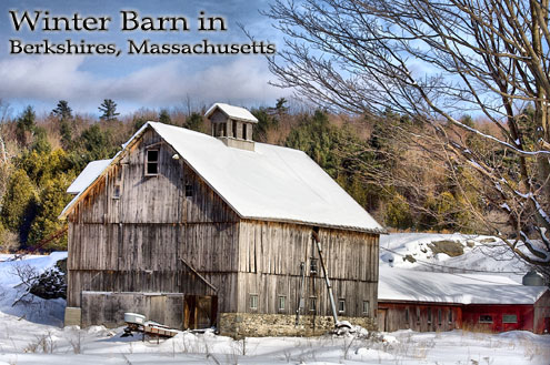 Massachusetts Berkshires Winter Barn