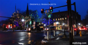 Greenfield MA downtown during the Holidays